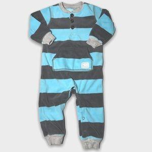 4/$20🥳 Blue And Gray Stripped Fleece Sleeper